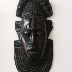 small black african wooden mask