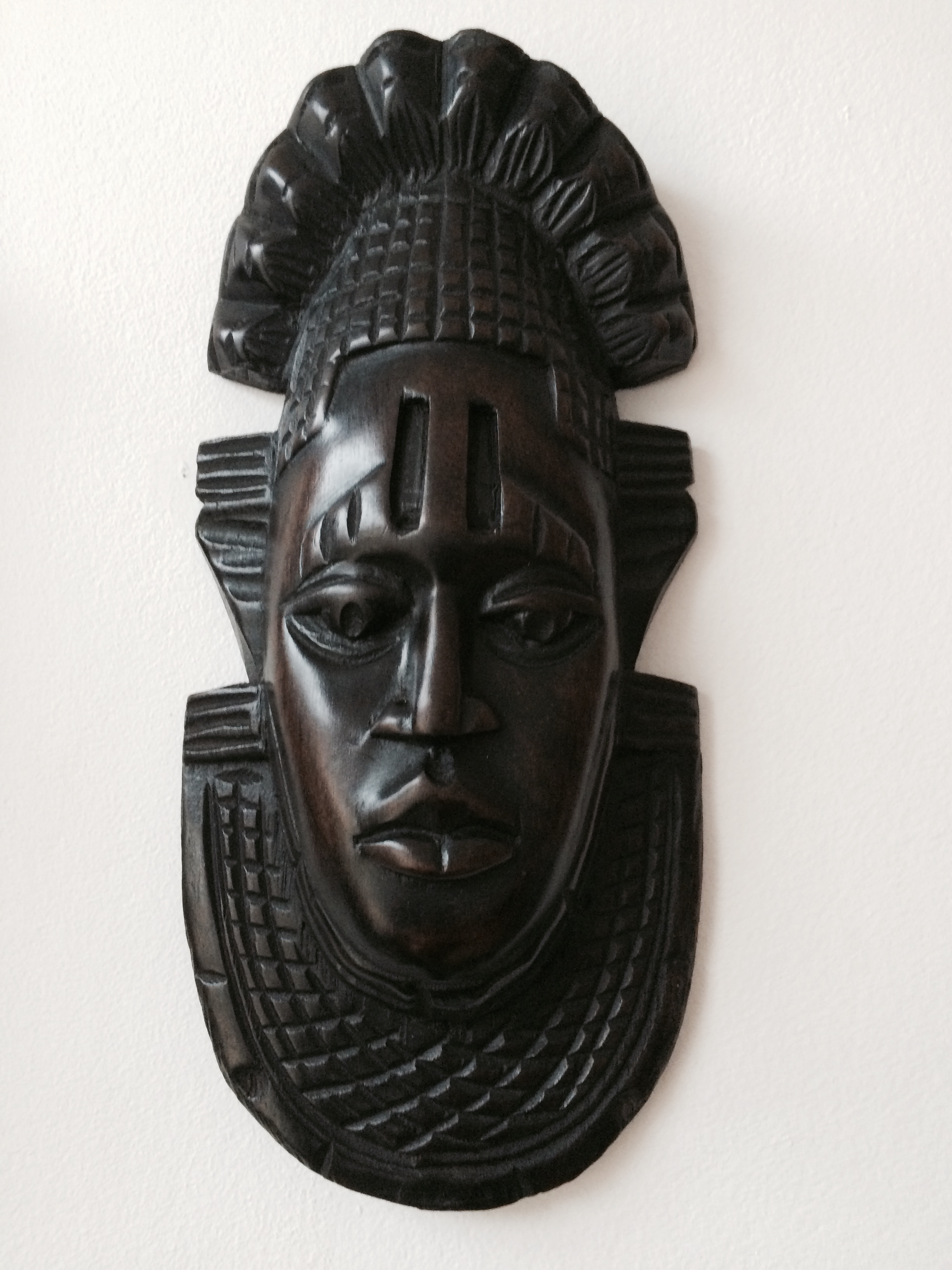 Small Black African Wooden Mask Kazeem The Tomb Raider
