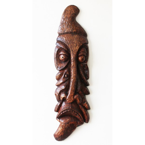 leaf wooden african tribal mask