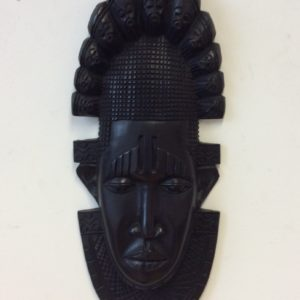 Black African Wooden Tribal Mask