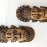 Brown African Wooden Tribal Masks