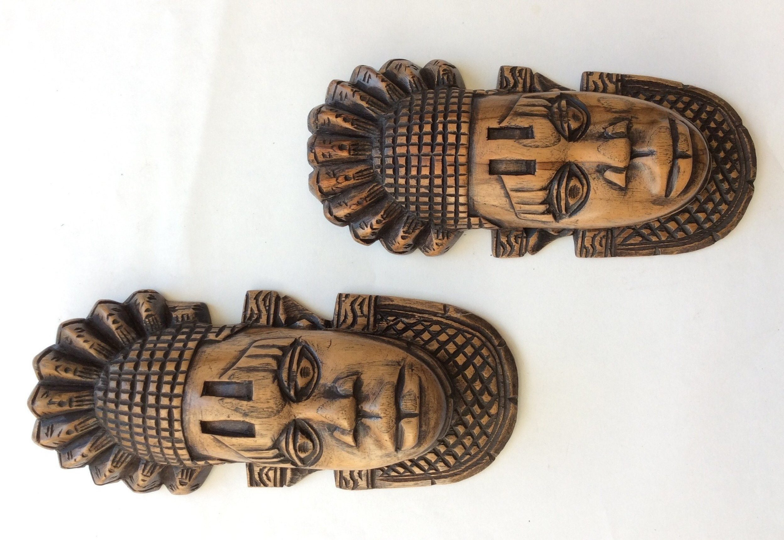 Brown African Wooden Mask Kazeem The Tomb Raider