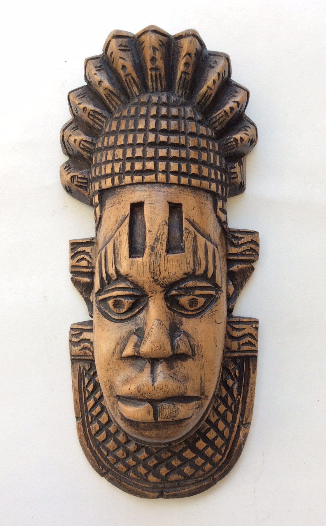 Brown African Wooden Tribal Mask